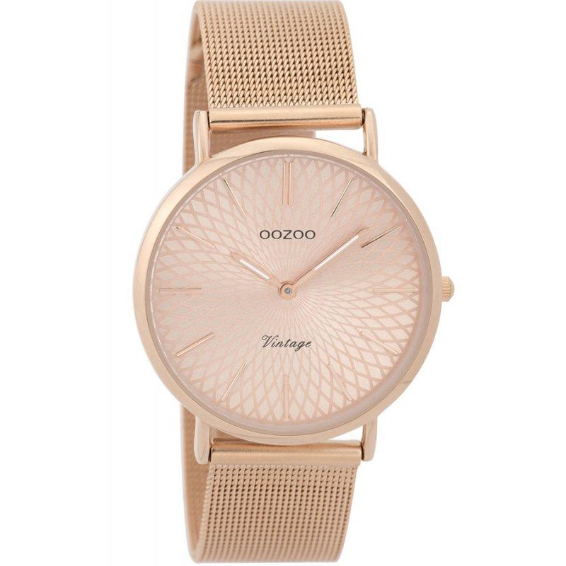 Ρολόι OOZOO Timepieces Vintage Rose Gold Metal Bracelet - C9344