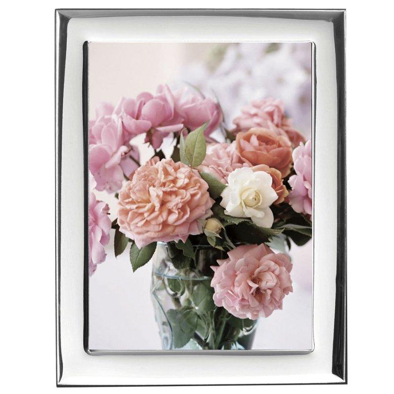 Κορνίζα Ασημένια Φωτογραφίας Γάμου 13x18 - MA-419-WB