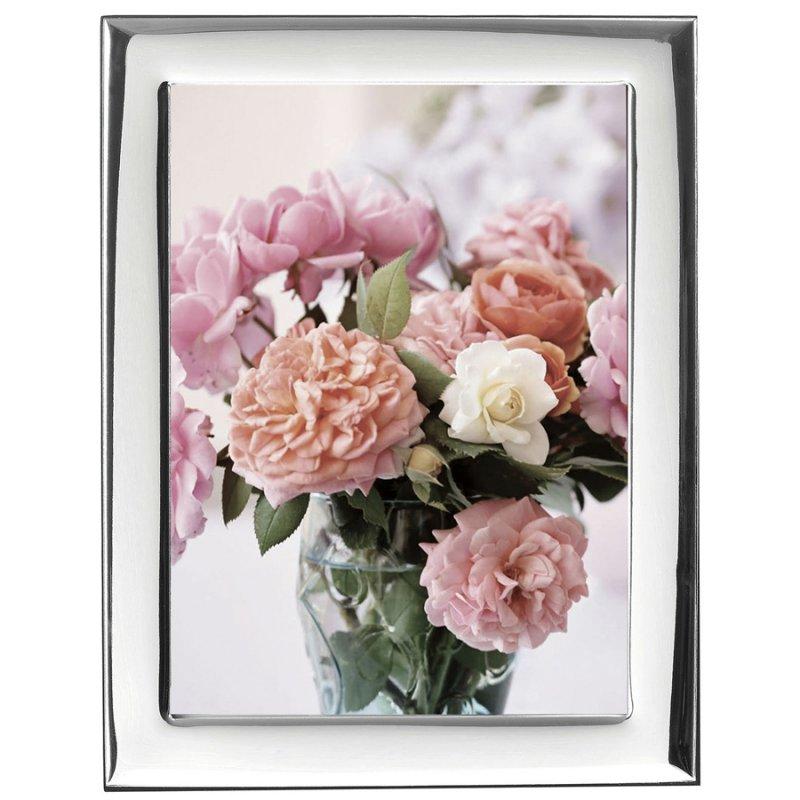Κορνίζα Ασημένια Φωτογραφίας Γάμου 9x13 - MA-419-WD