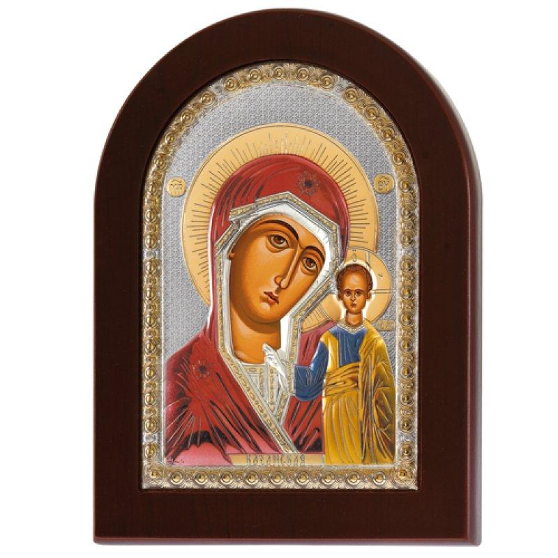 Εικόνα Παναγία Η Καζάν 20x26 Aπό Ασήμι και Ξύλο - MAE1106AX-C