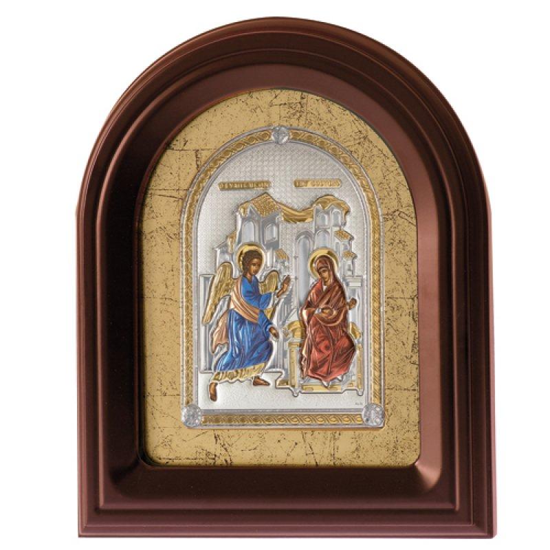 Eικόνα Ο Ευαγγελισμός 23x28 Aπό Ασήμι και Ξύλο - MAE1117BX-CK
