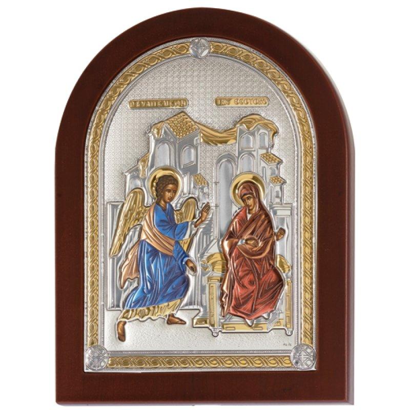 Εικόνα Ο Ευαγγελισμός 25x33 Aπό Ασήμι και Ξύλο - MAE1117VX-C