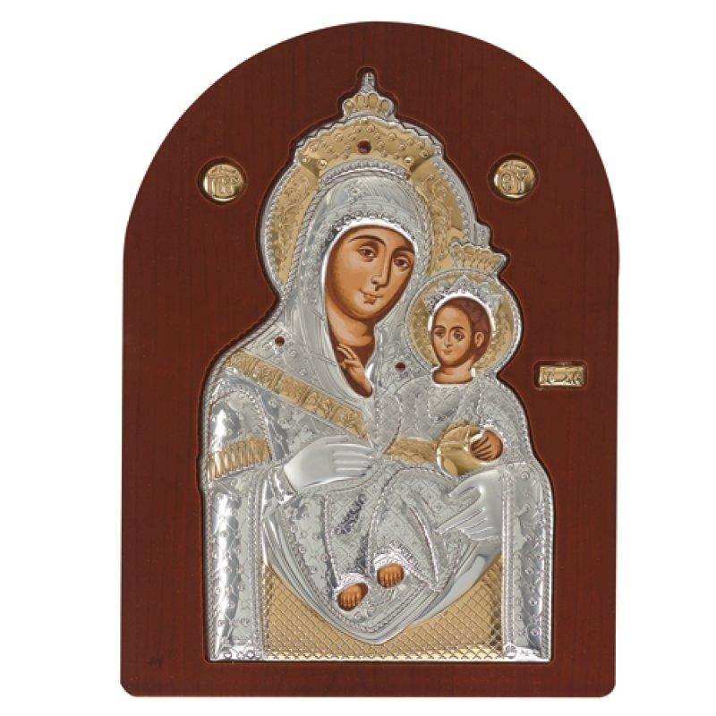 Eικόνα H Παναγία Η Bηθλεέμ 14,5x18 Aπό Ασήμι και Ξύλο - MAE1709MX