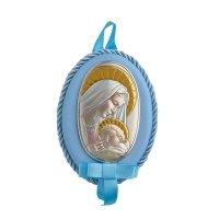 Εικόνα Νεογέννητου Παναγίτσα Ασημένια - MA-D514-CC