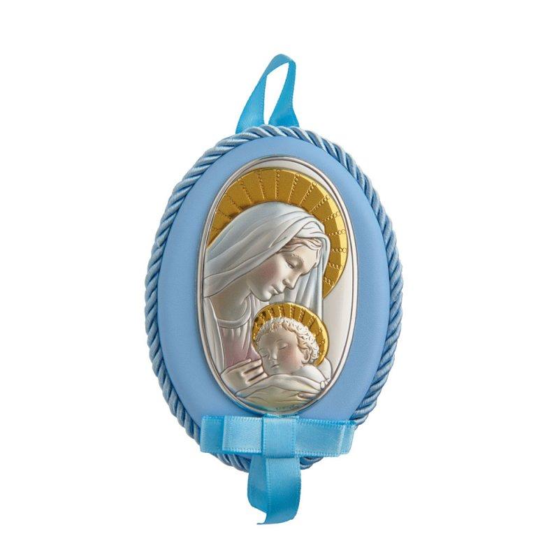 Εικόνα Νεογέννητου Παναγίτσα Ασημένια 8X11 - MA-D514-CC