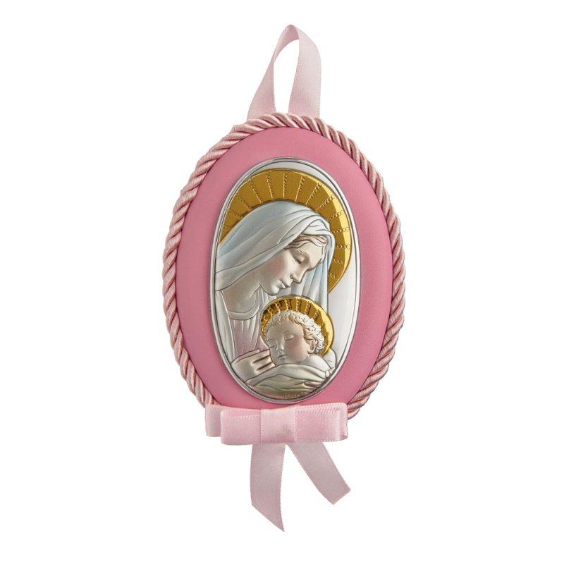 Εικόνα Νεογέννητου Παναγίτσα Ασημένια 8X11 - MA-D514-RC