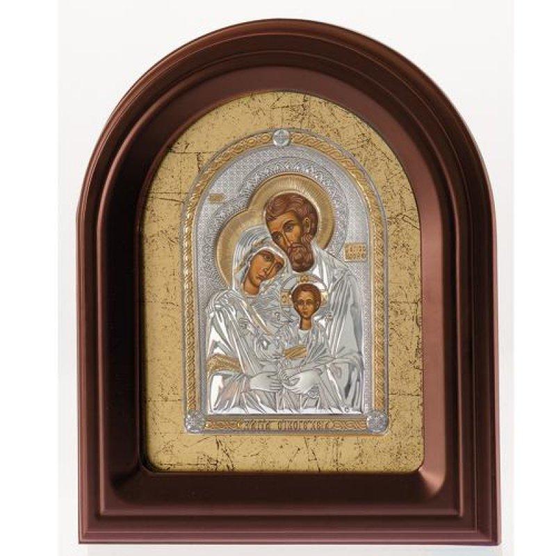 Eικόνα H Αγία Οικογένεια 26,5x32,5 Aπό Ασήμι και Ξύλο - MAE1505MX-K