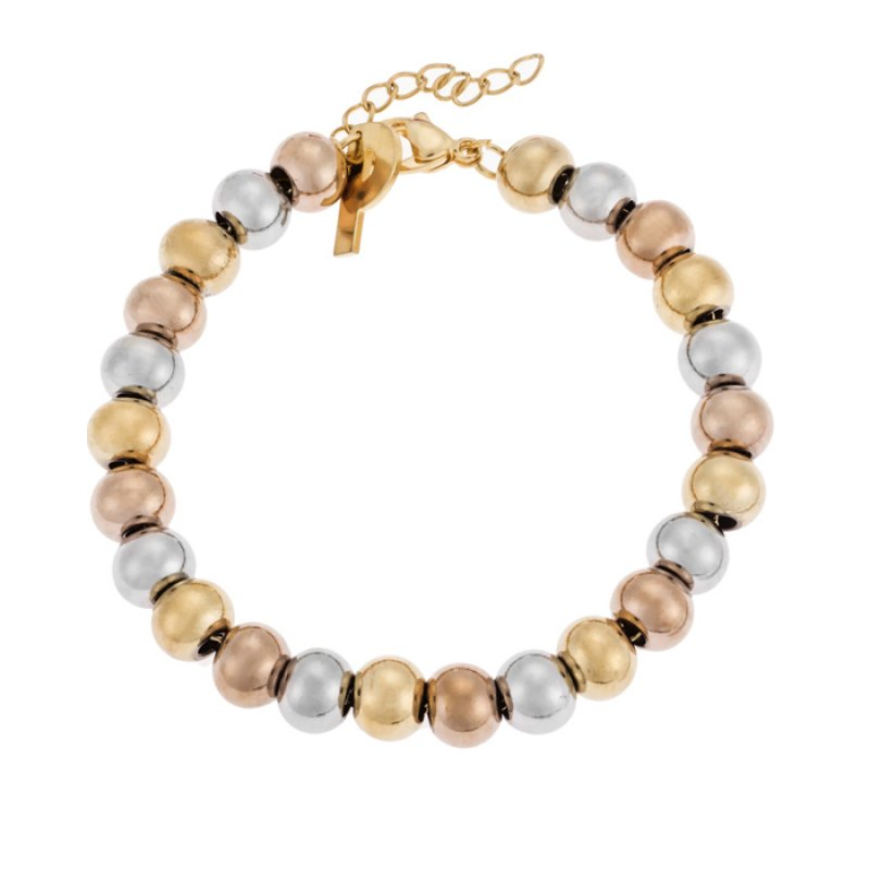 Βραχιόλι PUPPIS Stainless Steel Bracelet Rose Gold Silver PUB86561G - PUB86561G