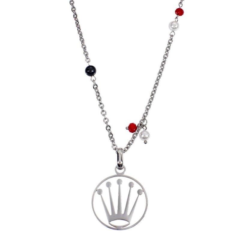 Μενταγιόν PUPPIS Stainless Steel Crown Necklace Silver PUP33971S - PUP33971S