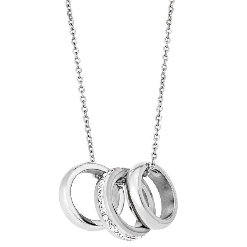 Μενταγιόν PUPPIS Stainless Steel Necklace Crystal Silver PUP97154S - PUP97154S