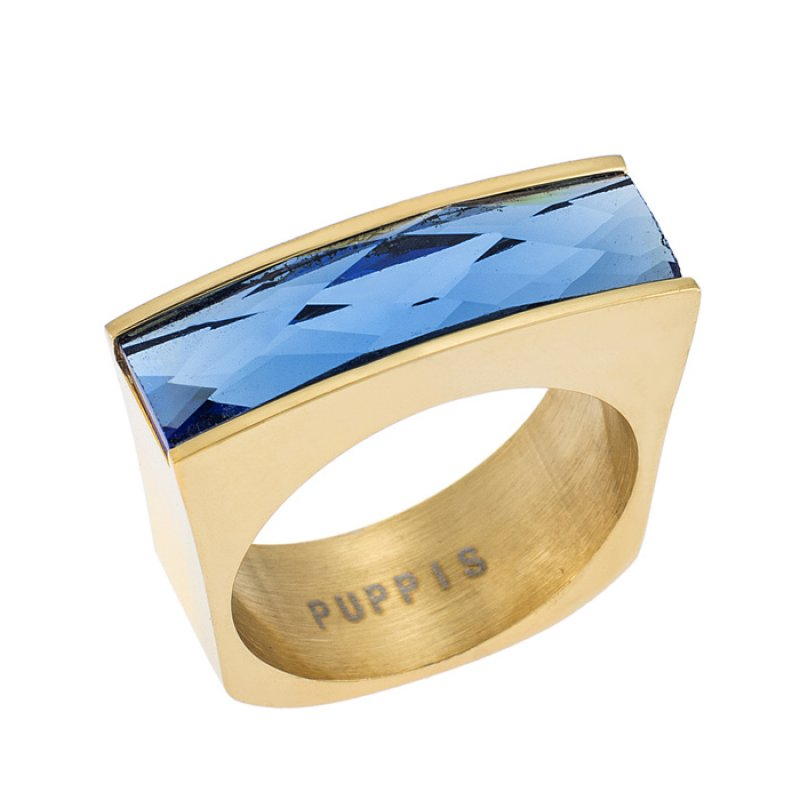 Δαχτυλίδι PUPPIS Blue Gold Steel - PUR38117G
