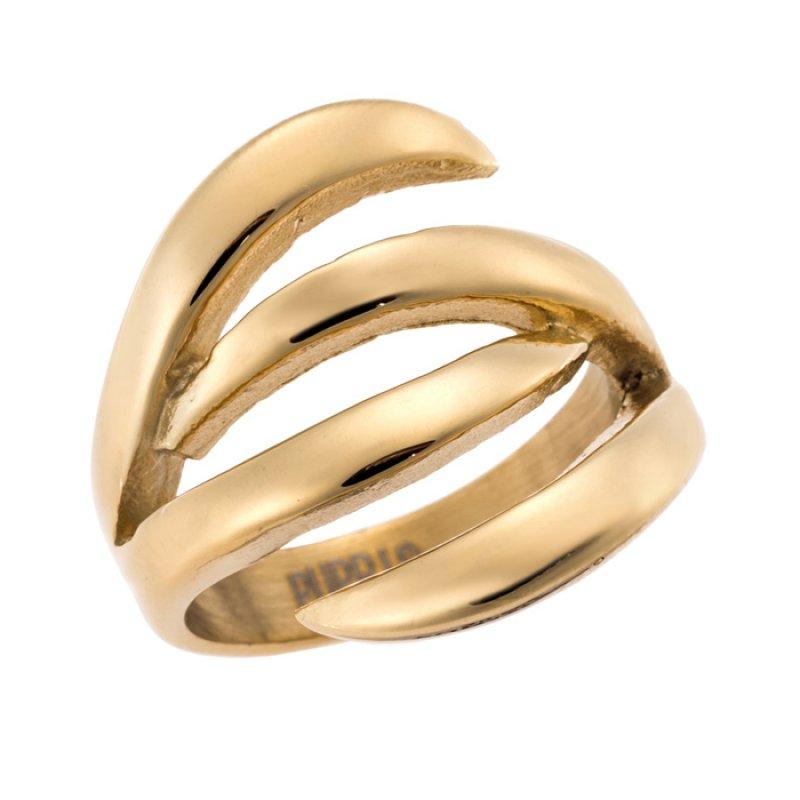 Δαχτυλίδι PUPPIS Gold Stainless Steel - PUR45759G