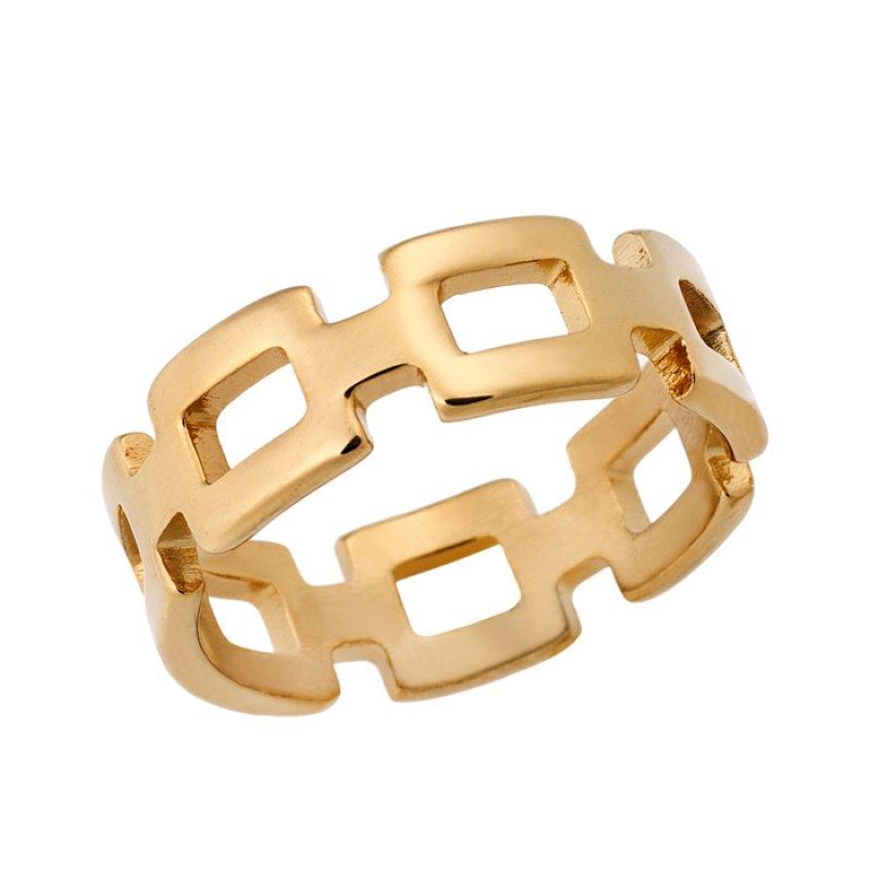 Δαχτυλίδι PUPPIS Gold Stainless Steel - PUR51533G