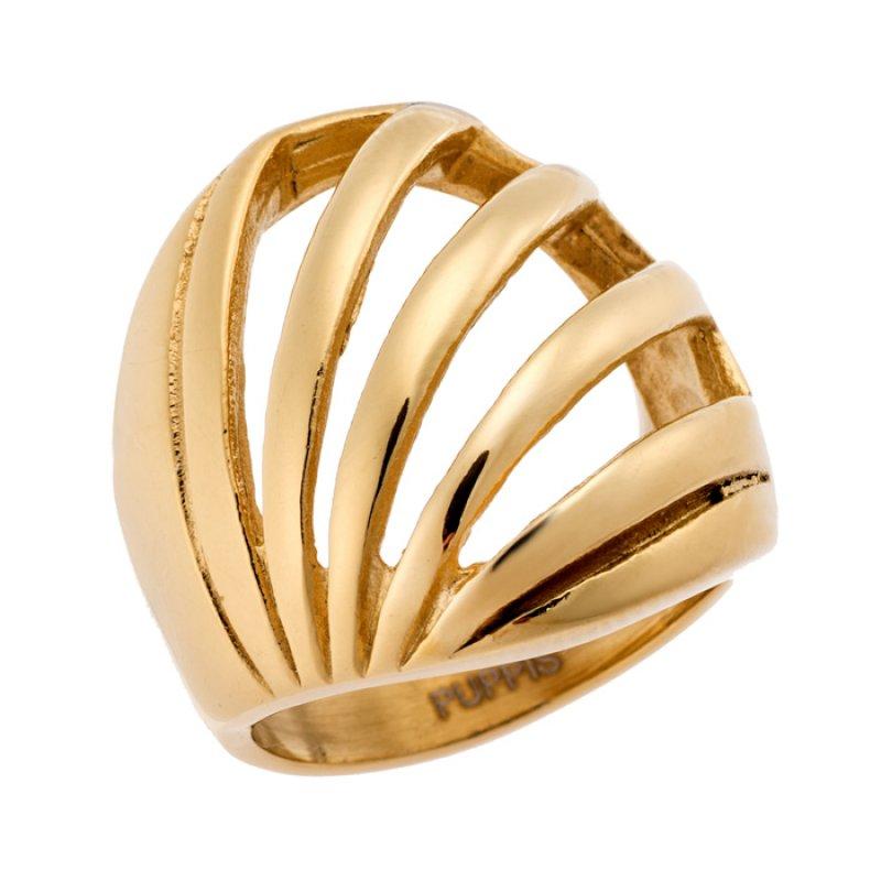 Δαχτυλίδι PUPPIS Gold Stainless Steel - PUR52362G