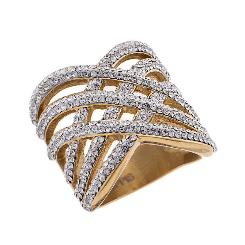 Δαχτυλίδι PUPPIS Steel Gold - PUR53000G