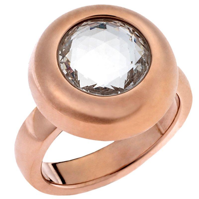 Δαχτυλίδι PUPPIS Stainless Steel Rose Gold Plated - PUR87226R