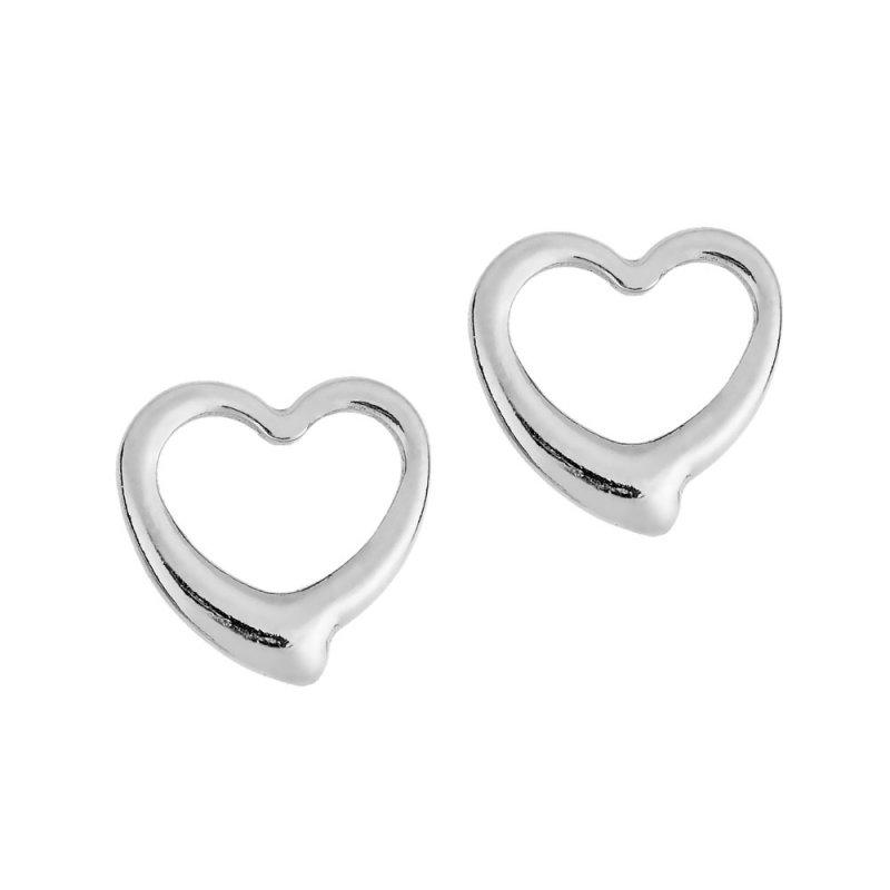 Σκουλαρίκια PUPPIS Stainless Steel Heart Silver PUW96475S - PUW96475S