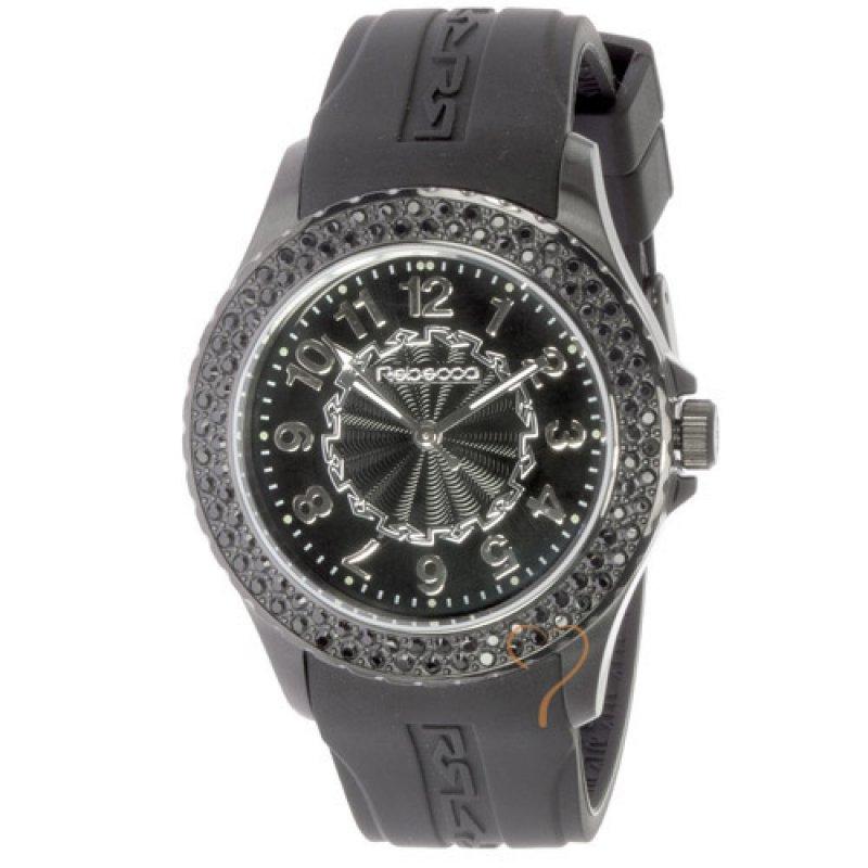 Ρολόι Rebecca Griffe Time Black Strap Black Case - AGROCN08
