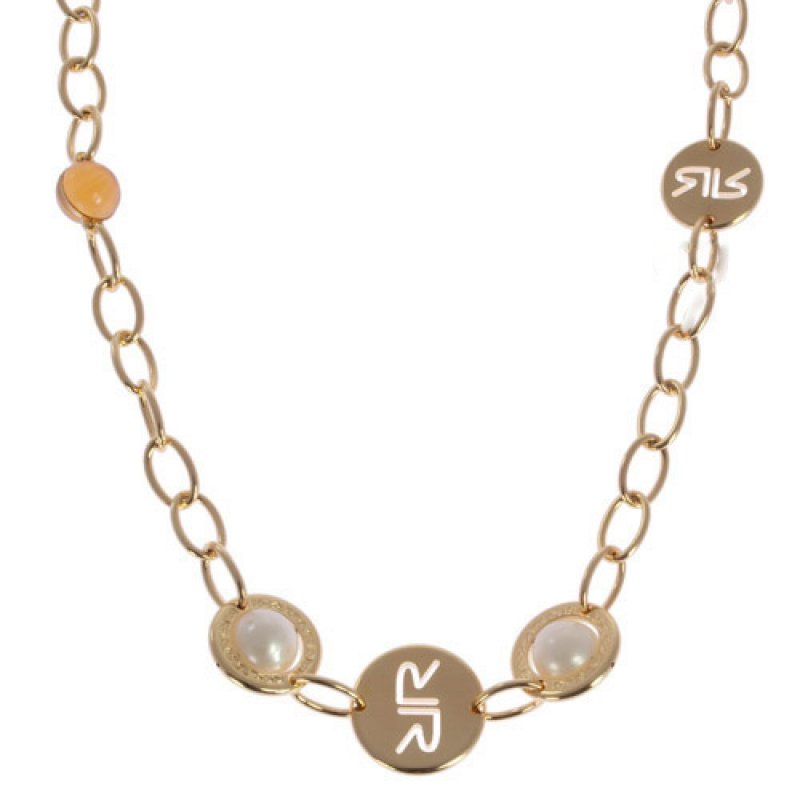 Κολιέ Rebecca Shibya 108cm Gold & Pearls από Ορείχαλκο - BPEKBO03