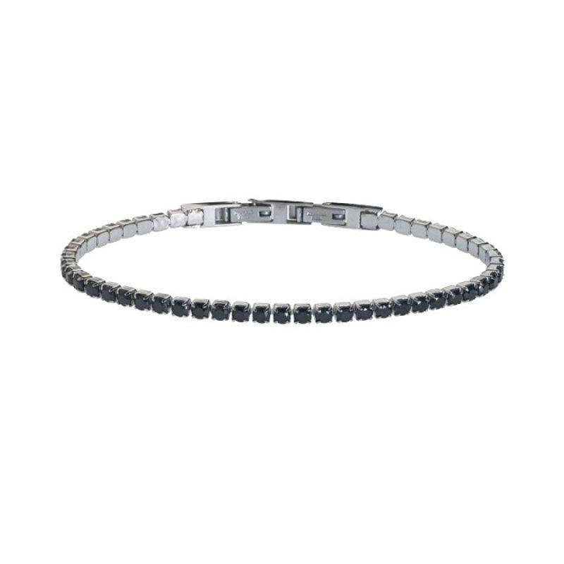 Βραχιόλι Ανδρικό ROSSO AMANTE Black Spinels Stainless Steel - UBR095LU