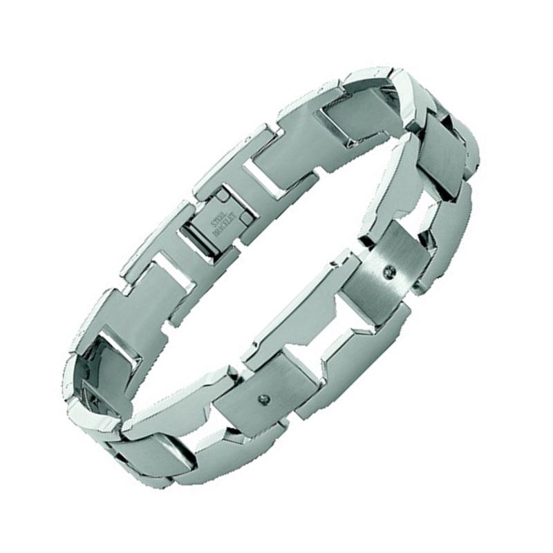 Βραχιόλι Ανδρικό Rosso Amante Steel Diamond - UBR146OT