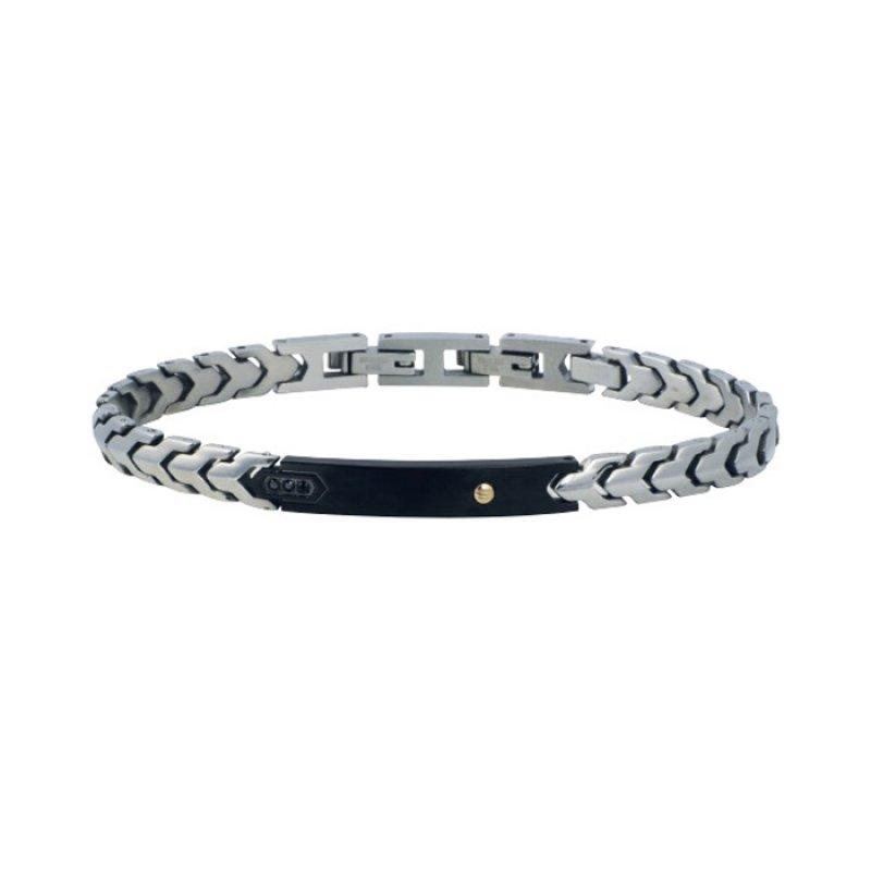 Βραχιόλι Ανδρικό ROSSO AMANTE Black Spinels Stainless Steel - UBR418OM