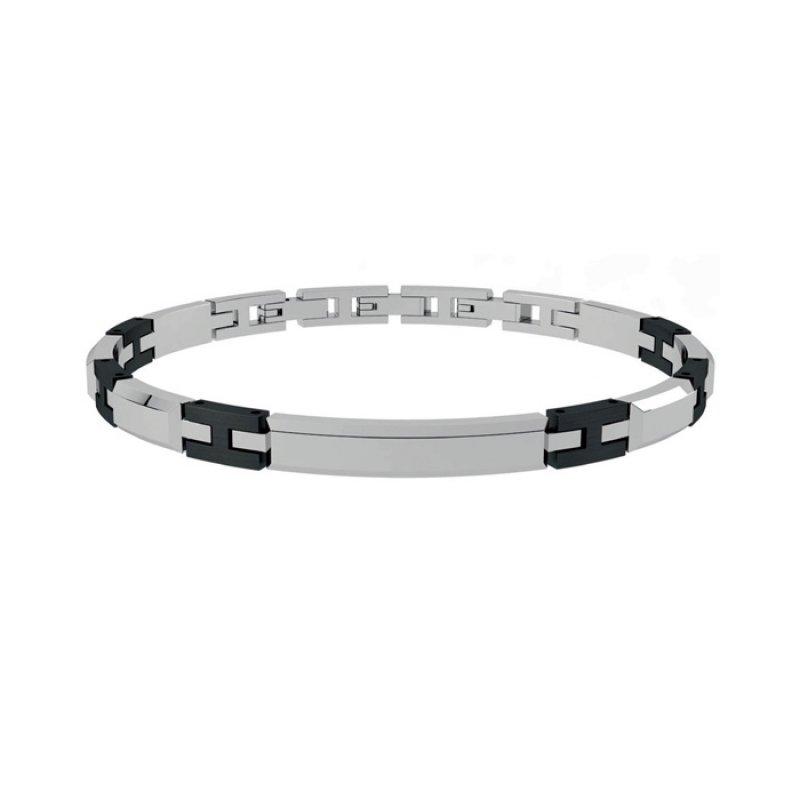 Βραχιόλι Ανδρικό ROSSO AMANTE Black Stainless Steel - UBR471PR