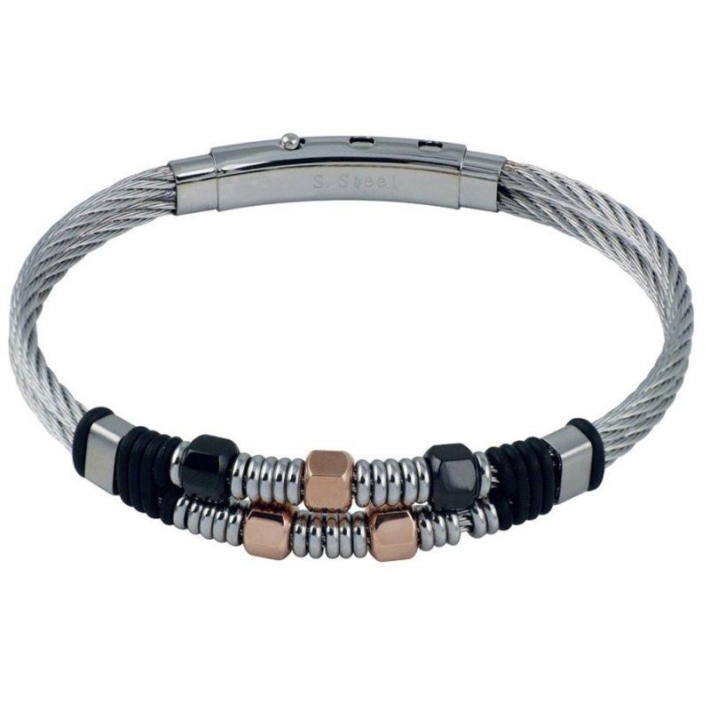 Βραχιόλι Ανδρικό ROSSO AMANTE Stainless Steel - UBR488QQ