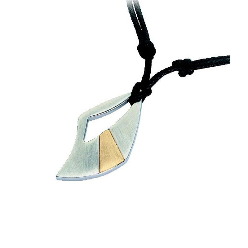 Μενταγιόν Ανδρικό Rosso Amante Gold 18k Steel Black Cord - UCN086OT