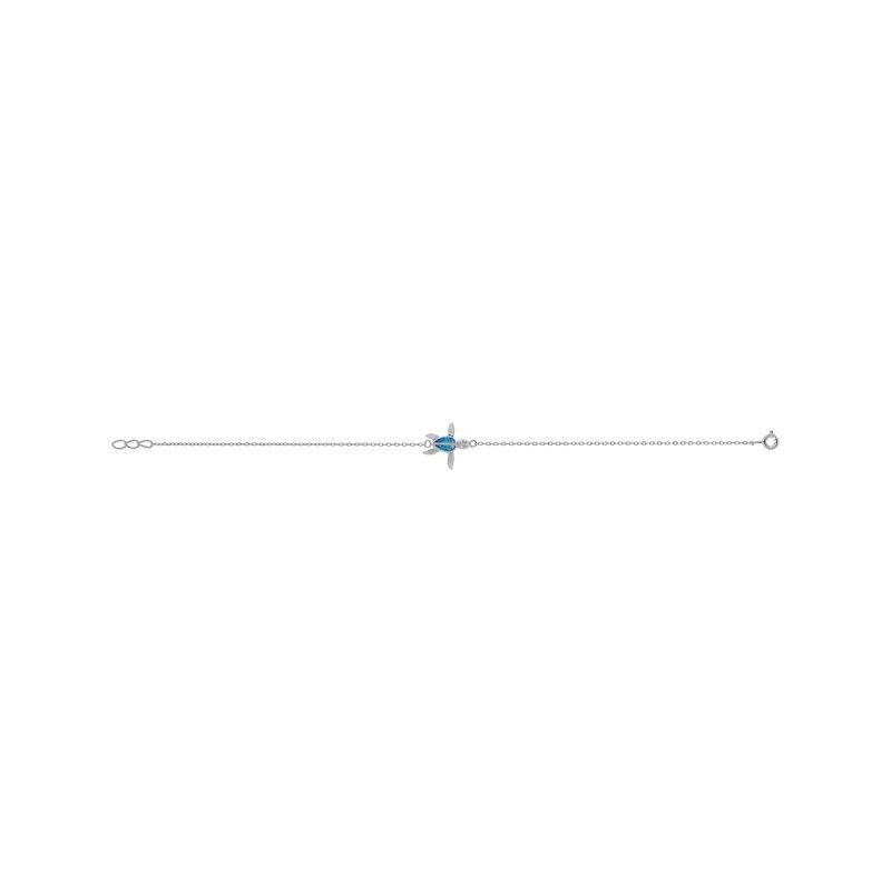 Βραχιόλι PRINCE SILVERO Μαίανδρος Opal Stone Ασήμι 925 - 9Z-BR048-1L
