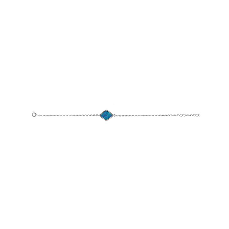 Βραχιόλι PRINCE SILVERO Μαίανδρος Opal Stone Ασήμι 925 - 9Z-BR090-1L