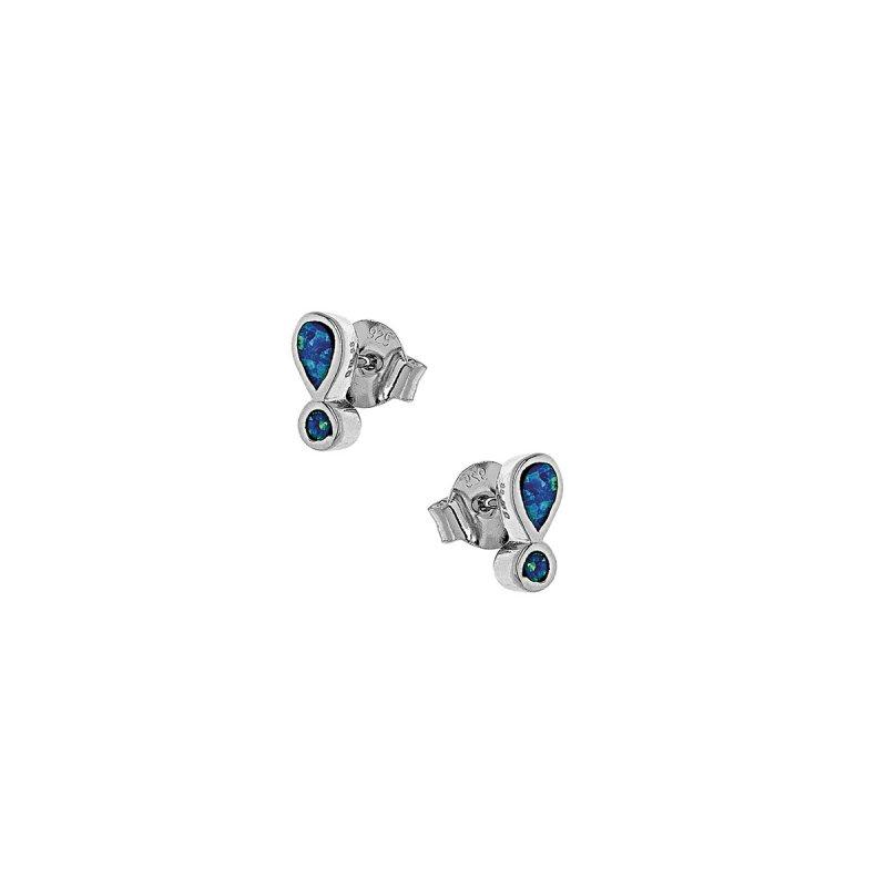 Σκουλαρίκια SENZA Opal Ασήμι 925 - 9Z-SC029-1L