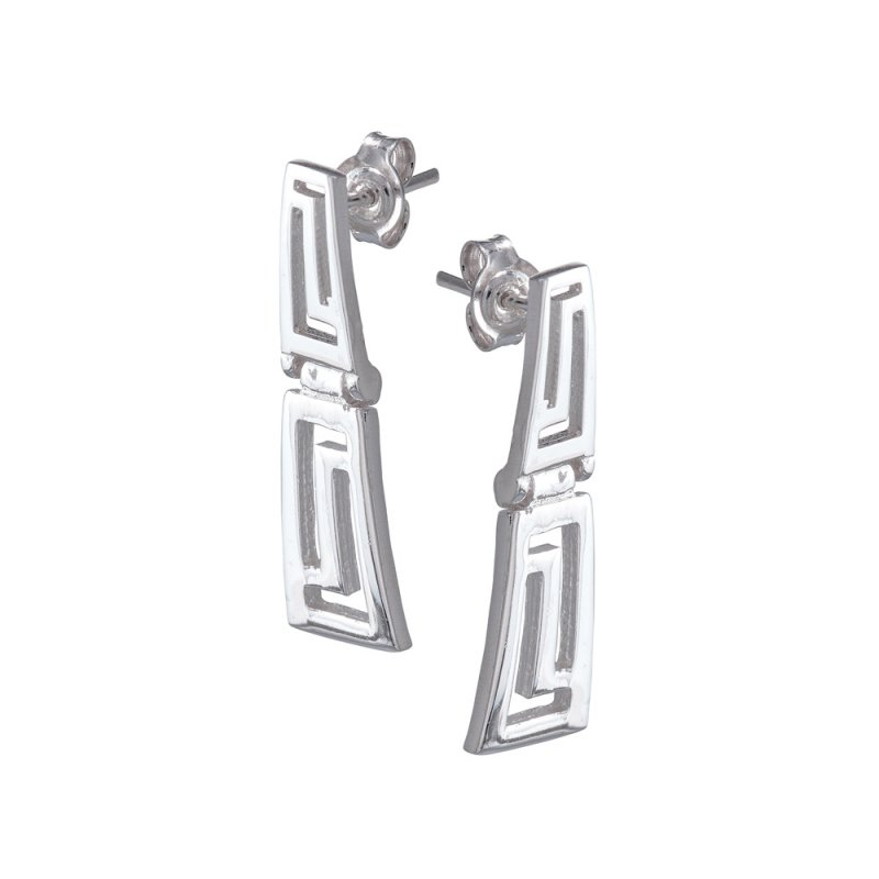 Σκουλαρίκια SENZA Μαίανδρος Ασήμι 925 - GRSC157