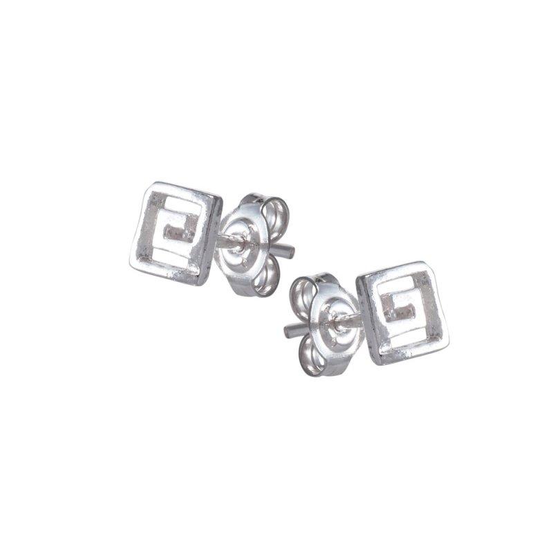 Σκουλαρίκια SENZA Μαίανδρος Ασήμι 925 - GRSC164