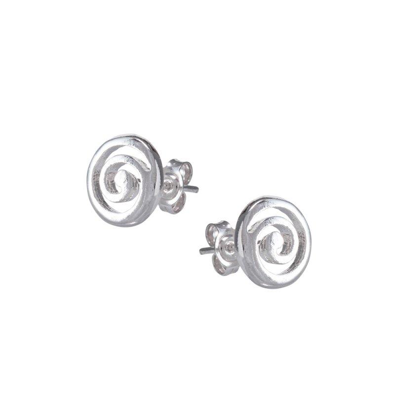 Σκουλαρίκια SENZA Μαίανδρος Σπείρα Ασήμι 925 - GRSC165