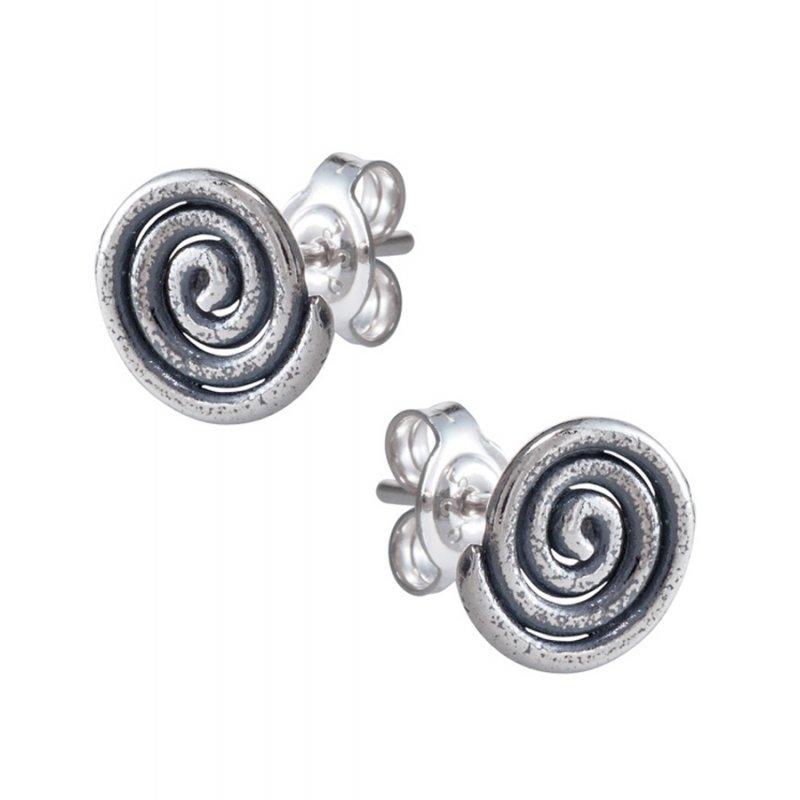 Σκουλαρίκια SENZA Μαίανδρος Σπείρα Ασήμι 925 - GRSC166