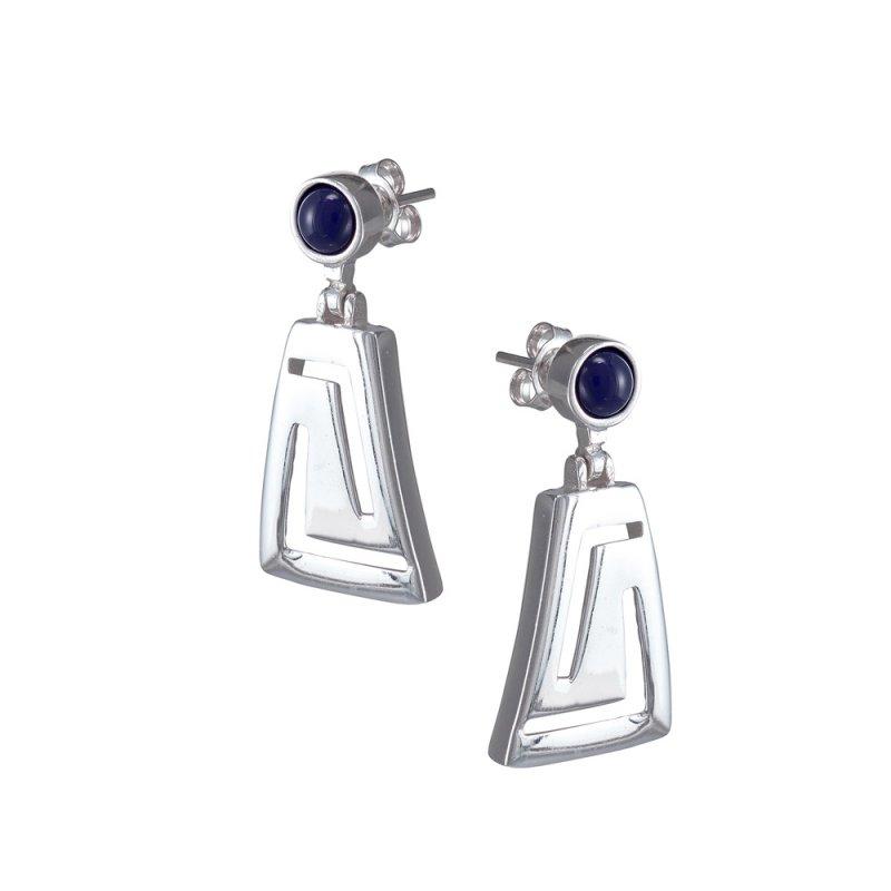 Σκουλαρίκια SENZA Μαίανδρος Ασήμι 925 - GRSC168M