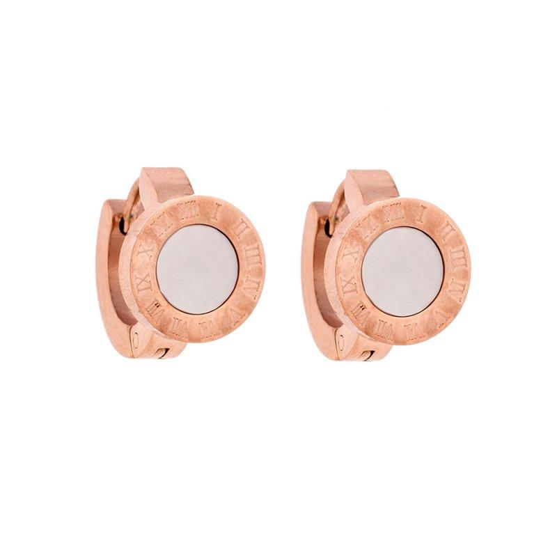 Σκουλαρίκια SENZA Rose Gold Steel - SSD2184RW