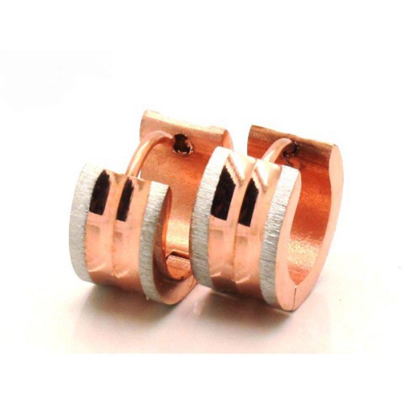 Σκουλαρίκια Senza Steel Rose Gold - SSD30973