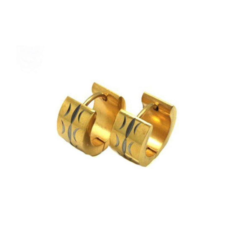 Σκουλαρίκια Senza Steel Gold 1 cm - SSD32786