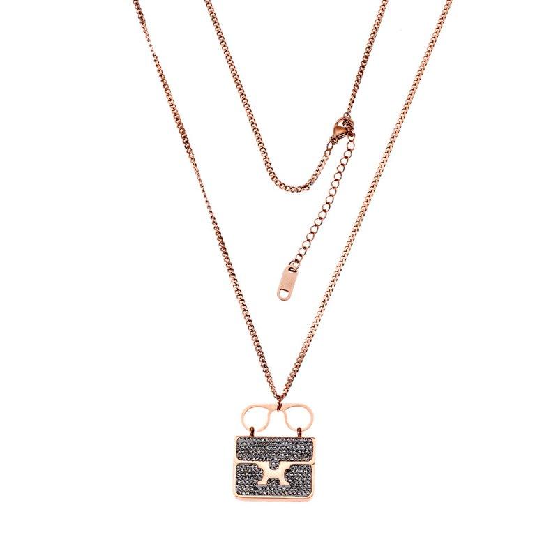 Κολιέ Γυναικείο SΕΝΖΑ Steel Rose Gold Plated - SSD3483RG