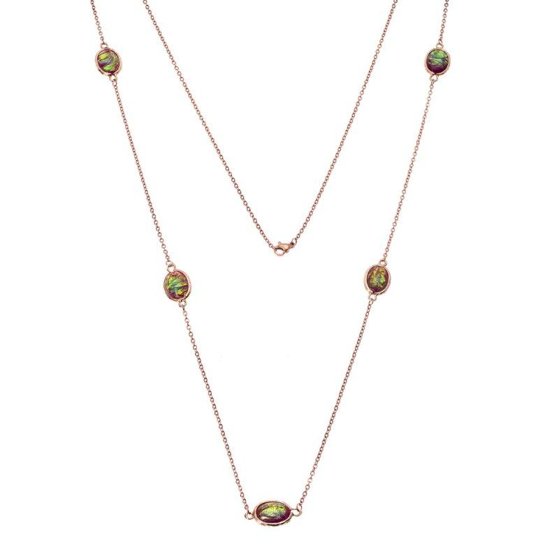 Κολιέ Γυναικείο SΕΝΖΑ Steel Rose Gold Plated - SSD3844-5
