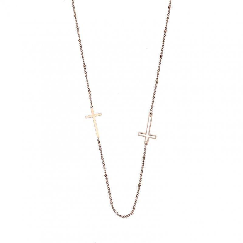 Κολιέ Γυναικείο SΕΝΖΑ Steel Rose Gold Plated - SSD4159RG