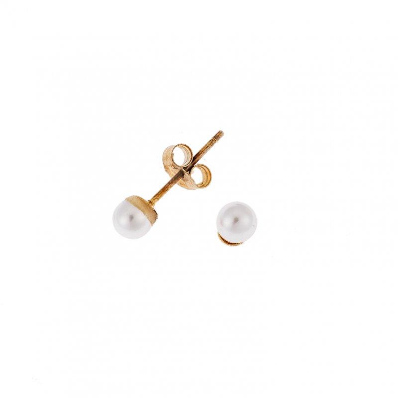 Σκουλαρίκια SENZA ασήμι 925 με μαργαριτάρι - SSR1788GD