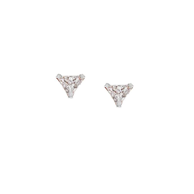 Σκουλαρίκια Τρίγωνο Senza Silver 925 3mm - SSR2379