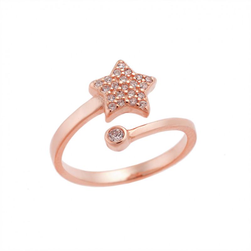 Δαχτυλίδι Chevalier Senza Silver 925 Rose Gold Plated - SSR2451RG