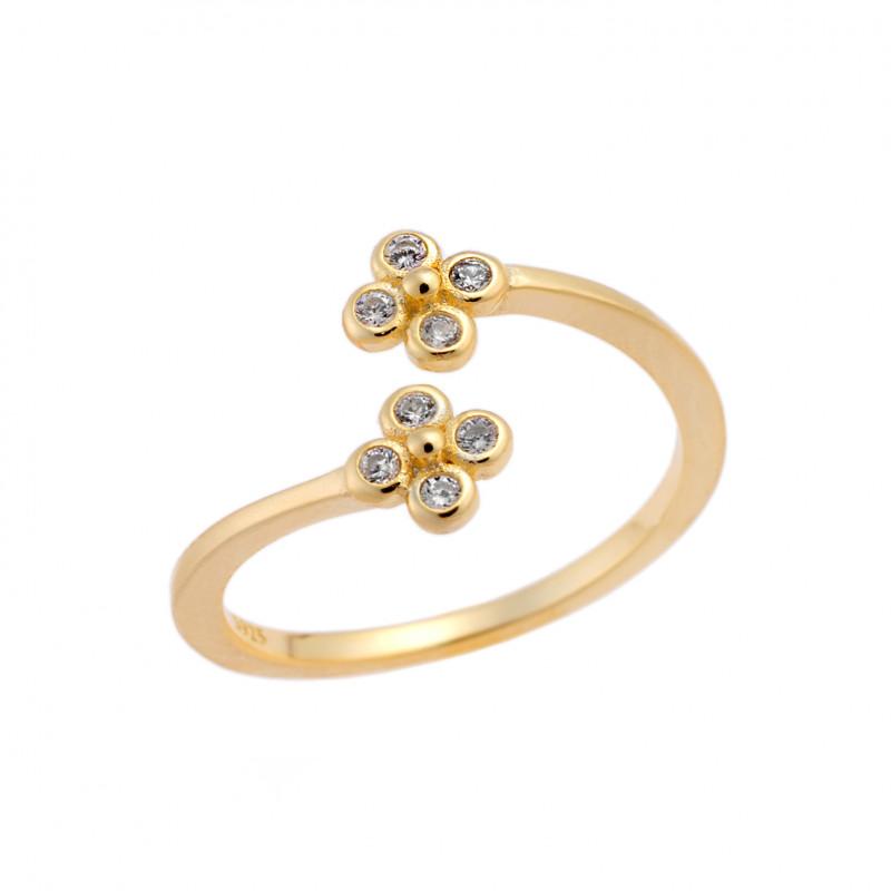 Δαχτυλίδι Chevalier Senza Silver 925 Gold Plated - SSR2468GD