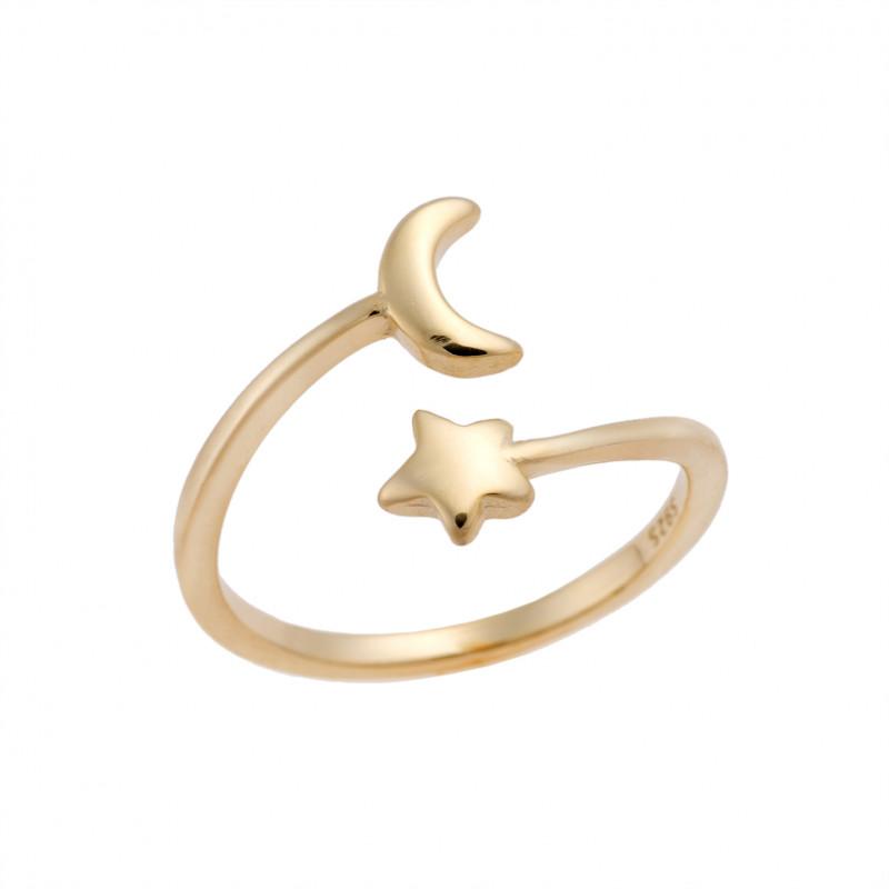 Δαχτυλίδι Chevalier Senza Silver 925 Gold Plated - SSR2469GD
