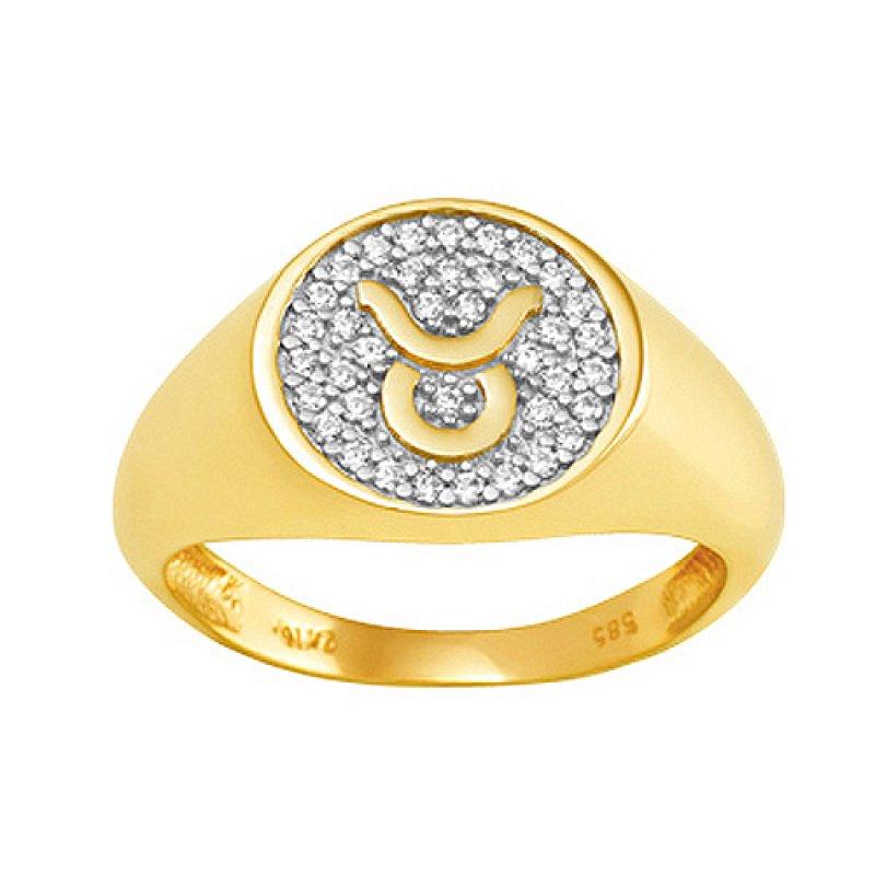 Δαχτυλίδι Chevalier Senza Από Ασήμι Επιχρυσωμένο\n Ταύρος ZX6TA ZX6TA