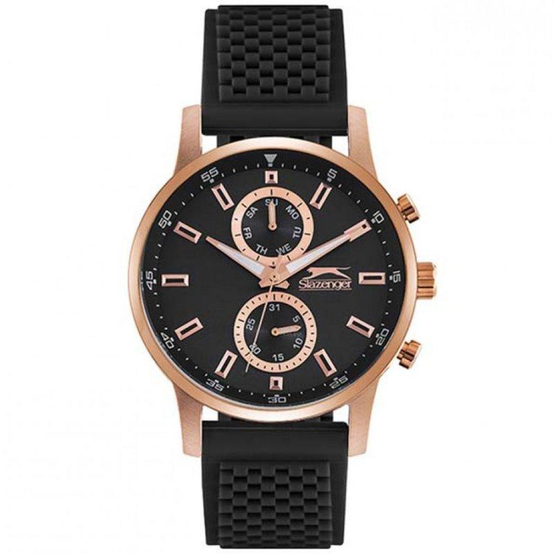 Ρολόι Slazenger Multifunction Black Rubber Strap - SL.09.6197.2.01